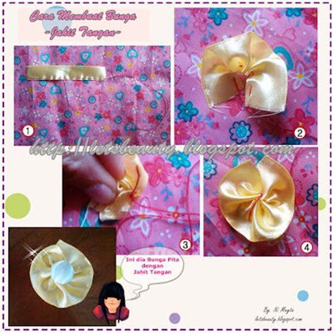 Bunga Sateenaplikasi Bunga Bunga Aplikasi Bunga Pita deppi devi tutorial cara sederhana membuat bunga dari pita