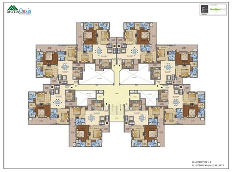 Cluster House Plans by Cluster House Plans 3 4 Bhk Luxury Flats Apartments Motia