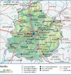 carte plan et itin 233 raire d 233 partement sarthe 72