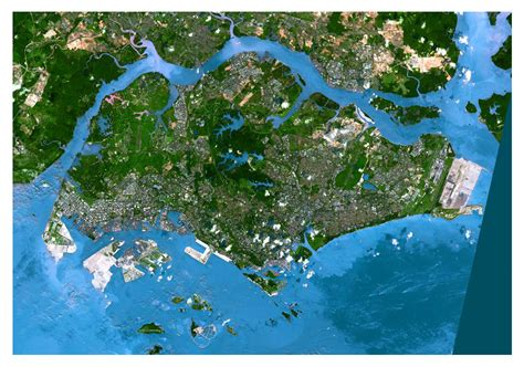 satellite map of singapore maps of singapore detailed map of singapore in