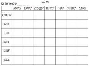 search results for weekly food diary sheet printable