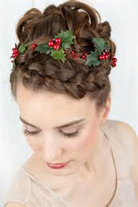 holiday hair accessories holly hair clip christmas by