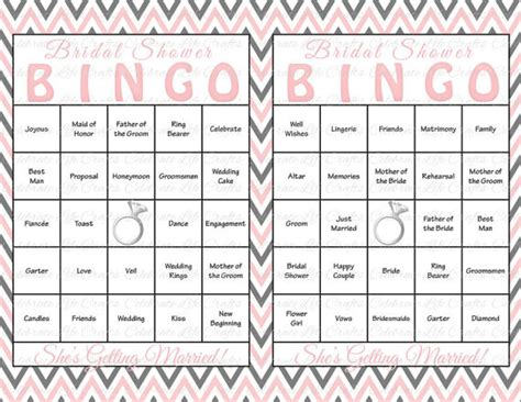 Br Guest Gift Card - 30 bridal shower bingo cards diy printable party game bridal shower instant