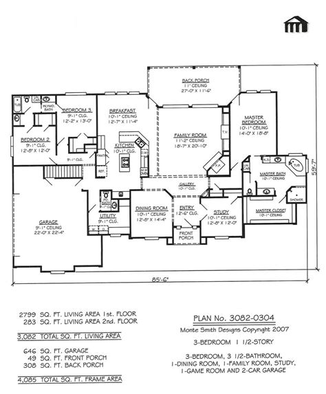 2 story house floor plans with basement 3 bedroom 2 story home floor plans basement bedrooms three story house plans
