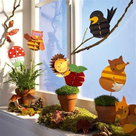 Herbst Dekoration Fenster Grundschule by Fensterbilder Basteln 64 Diy Ideen F 252 R Stimmungsvolle