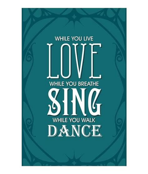 a lover sings selected seven rays love sing dance poster buy seven rays love sing dance poster at best price in india
