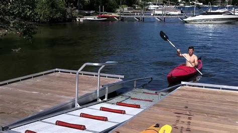 how to build a boat roller r kayak launch dock system youtube