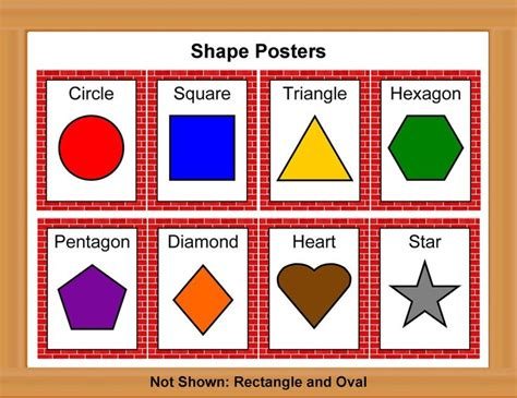 Free Printable Shapes Poster | printable color poster for preschool shape posters