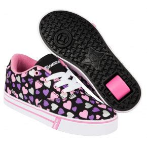 chaussures à roulettes filles heelys chaussure 224 launch 770702 black multi hearts chaussure 224 heelys