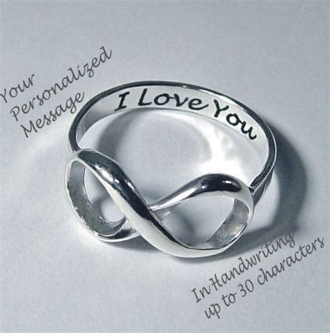 infiniti rings infinity ring infinity rings wedding rings personalized
