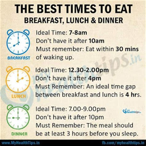 what time is lunch the best time to eat breakfast lunch dinner success