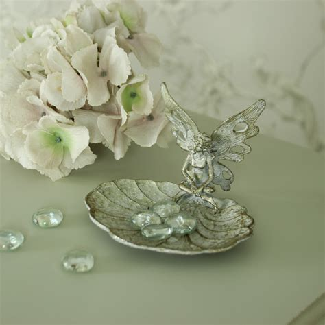 small metal silver fairy trinket tray melody maison 174
