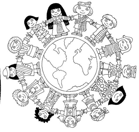 children coloring pages children around the world coloring page passport project