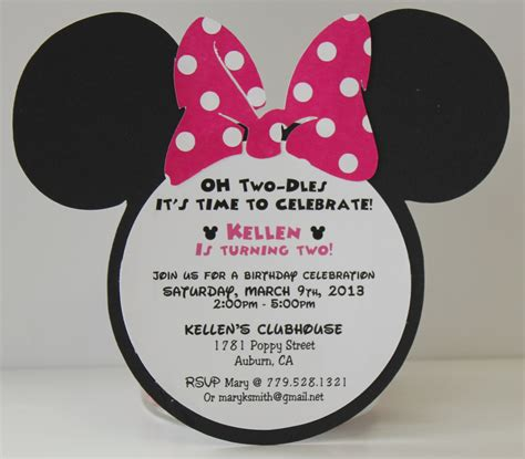 how to make minnie mouse invitation cards minnie mouse birthday invitation wording alanarasbach
