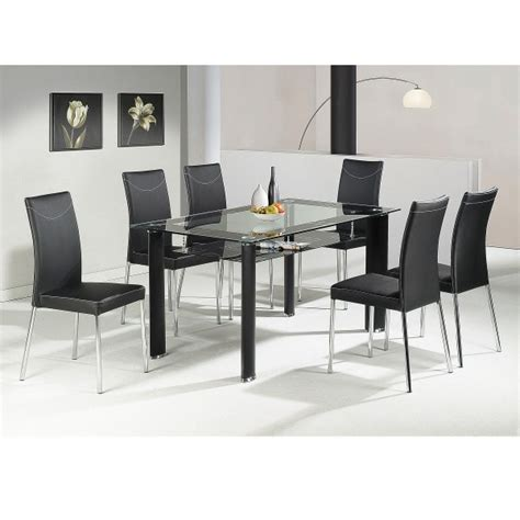 glass dining table for 6 cheap heartlands delano glass dining table set 4 chairs