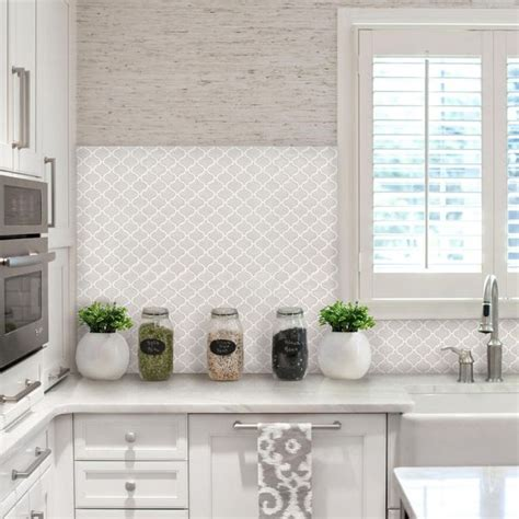 adhesive kitchen backsplash beaustile bianco 4 decorative adhesive faux tile sheets 12 2in x 12 2in products