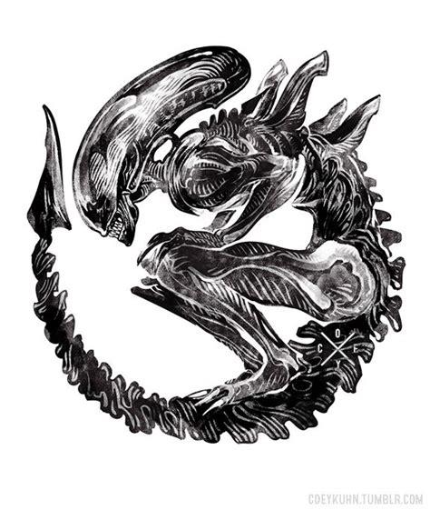 xenomorph tattoo coeykuhn xenomorph commission from yeah