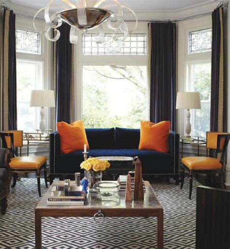 navy blue and orange living room navy blue conundrum reupholster an the fox and she