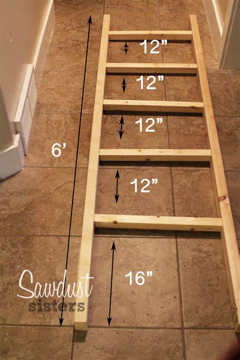 How To Make A Ladder Quilt Rack by Diy Blanket Ladder Sawdust
