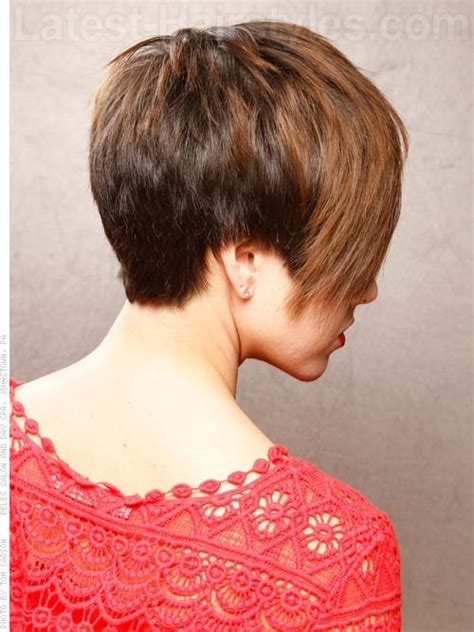 pictures of short haircuts from back side 27 best images about hairstyles on pinterest short