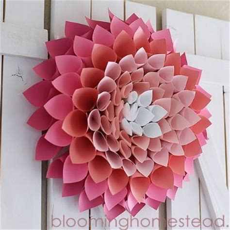 How To Make Paper Cones For Flowers - dress your door with a diy wreath wreaths