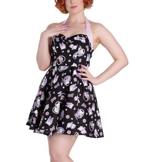 49100 Bunny Mini Dress Hodie hell bunny mini dress amelia pink kittens hearts black all sizes