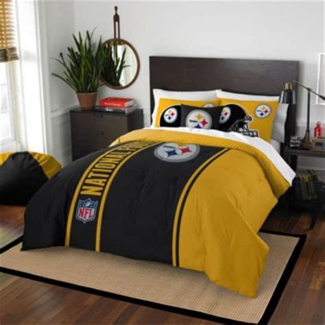 steelers bedroom set buy pittsburgh steelers bedding from bed bath beyond
