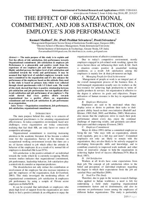 research paper on employee satisfaction research paper on satisfaction of employees