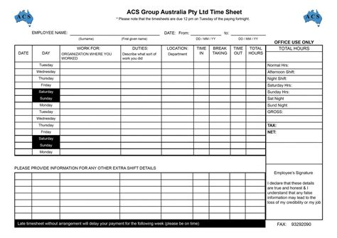 employee timesheet template free employee timesheet template template business