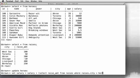 sql subquery tutorial sql update using correlated subquery youtube