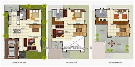 3 bhk house plans 3 bedroom independant villa in 2100 sqft house plan hyderabad latest house plans and