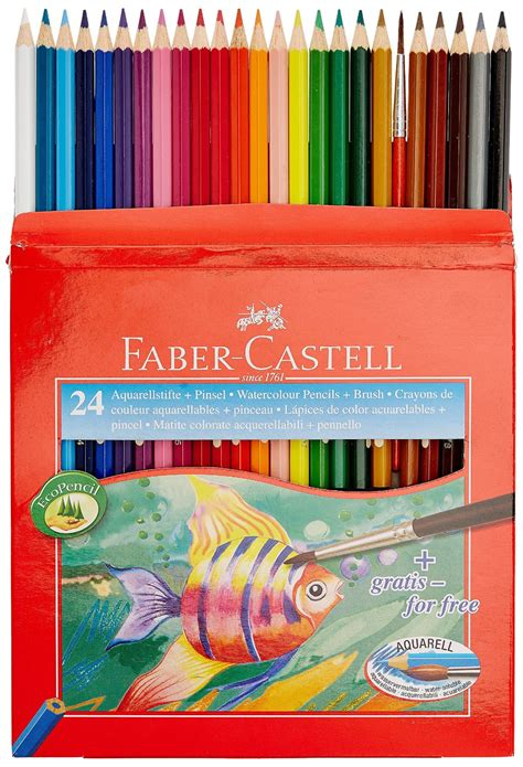 24 Watercolour Pencils Faber Castell faber castell high quality watercolour pencils pack of 24 ebay