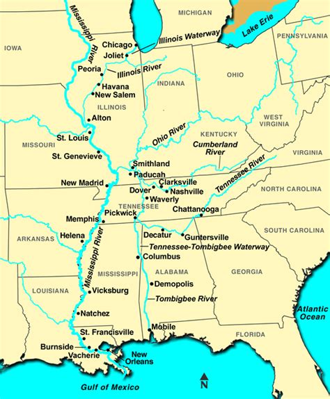 united states map showing mississippi river mississippi river flooding map cruise guide