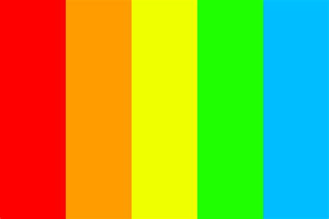 what is the color of the rainbow colors of the rainbow color palette