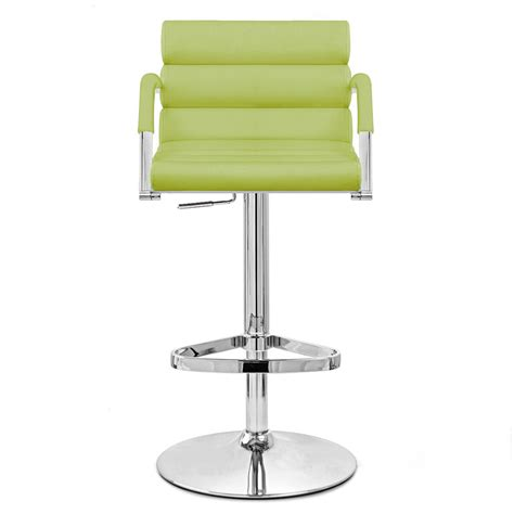 Lime Green Bar Stool Lime Green Ego Adjustable Height Swivel Bar Stool With Chrome Base Zuri Furniture