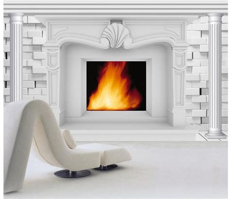 Kamin Hintergrund Wand by Custom 3d Wallpaper European Style 3d Fireplace Background
