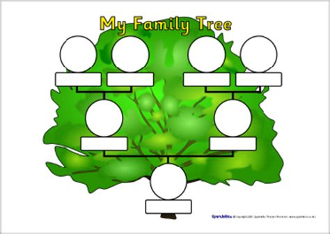 family tree template for kindergarten family tree sheets sb1982 sparklebox