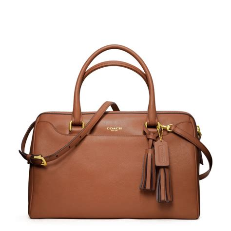 Coach Legacy Leather coach legacy leather satchel with in brown lyst