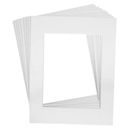 10 Frame Mats by 10 Mats Premier Quality Acid Free Pre Cut 11x14 White