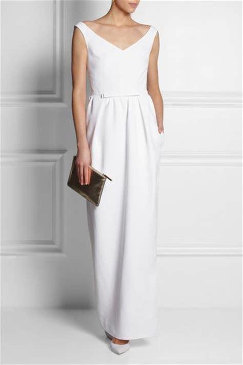 Dress Crepe Import Maxi Dress 1 Carven Crepe Maxi Dress In White Lyst