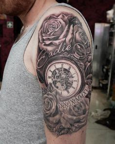 tattoo salib di kaki 75 brilliant pocket watch tattoo designs ever made