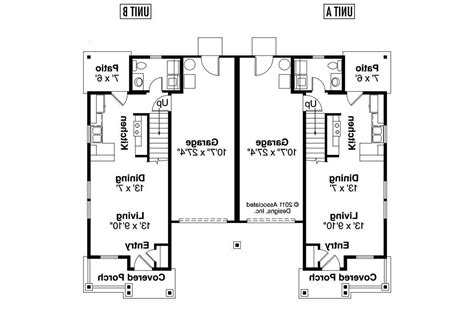 Plan Of Duplex by 2 Bedroom Bath Duplex Floor Plans Two One 2018 And