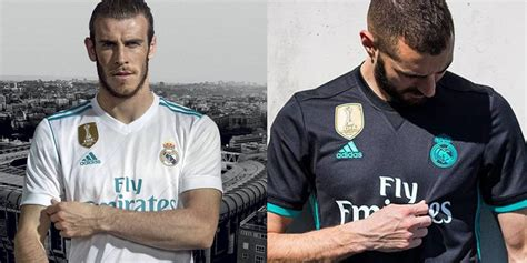 Jersey Bola Real Madrid Away New 17 18 Grade Ori Murah real madrid luncurkan jersey baru musim 2017 18 bola net