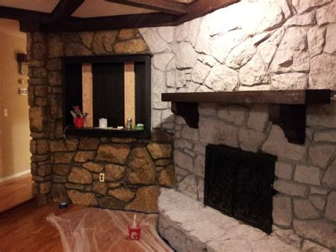 Fireplace Makeover Cost by Fireplace Painted Living Room