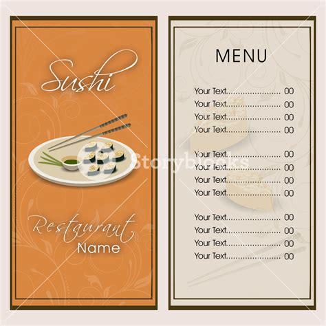 design a menu card restaurant menu card design royalty free stock image