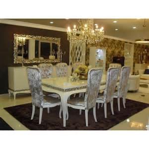 salle 224 manger de luxe argent meuble buffet et chaises