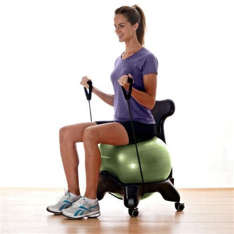 armchair yoga balance ball chair ergonomic exercise from gaiam americas