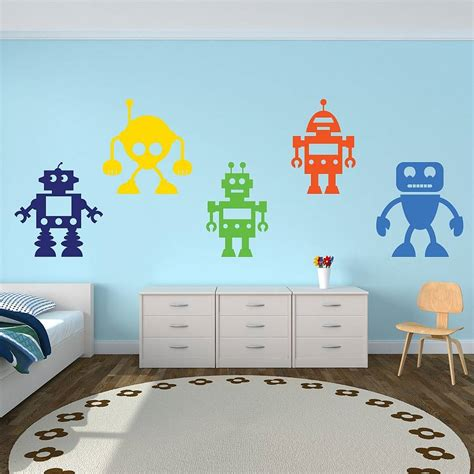 robotic wall robots vinyl wall stickers by mirrorin