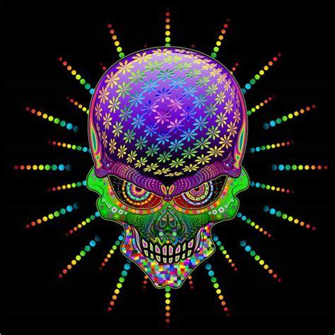rainbow psychedelic mexican sugar skull bedding sugar