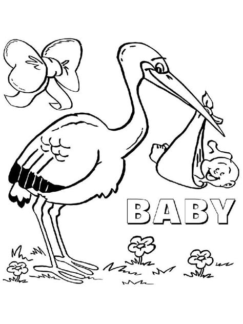 storks coloring pages az coloring pages
